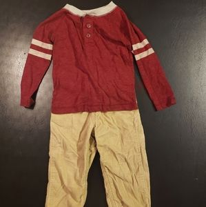 Boys Long Sleeve Shirt with Corduroy Pants